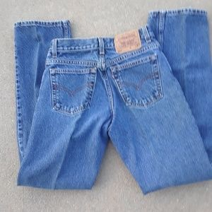 555 Levi's Jeans Made in USA size 28x31 EUC